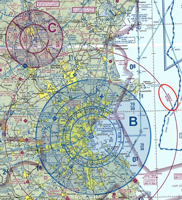 US Airspace - Class g airspace map