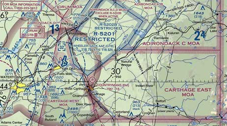 Special Use Airspace And Charts - Prohibited airspace map