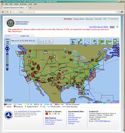 Us Restricted Airspace Map Special Use Airspace and Charts